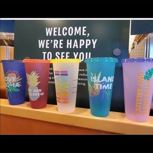 Starbucks Aloha Collection Venti Cold tumblers